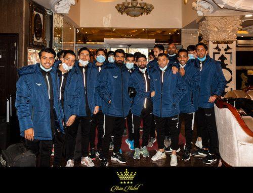 حضور تیم فوتبال باشگاه فرهنگی ورزشی شاهین شهرداری بوشهر در هتل چهار ستاره آریا