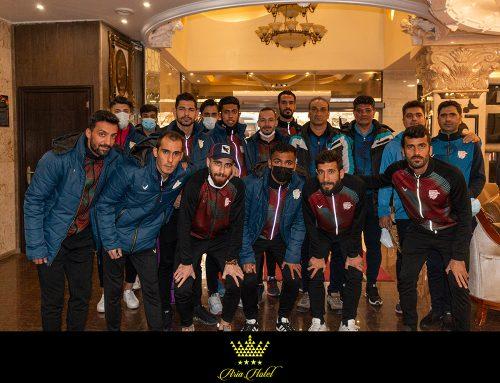 حضور تیم فوتبال بادران تهران در هتل آریا ارومیه